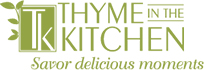 thyme in the kitchen evansville logo
